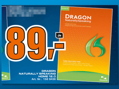 Nuance Dragon Naturally Speaking 12 Home (Win) (DE) © Saturn