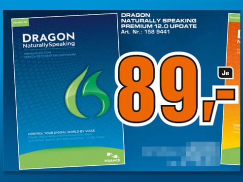 Nuance Dragon Naturally Speaking 12 Premium Upgrade (Win) (DE) ©Saturn