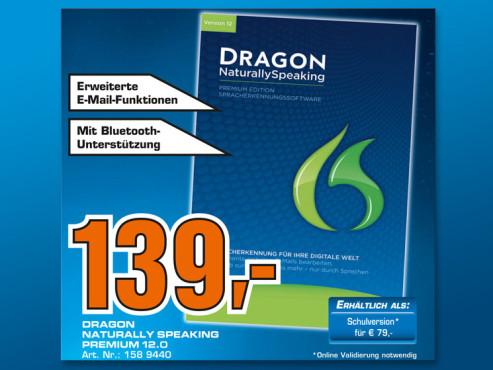 Nuance Dragon Naturally Speaking 12 Premium (Win) (DE) ©Saturn