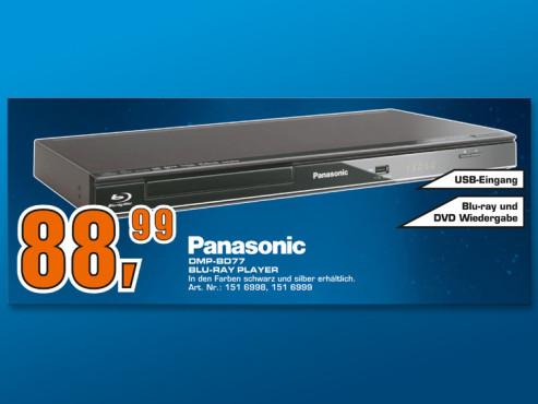 Panasonic DMP-BD77 ©Saturn