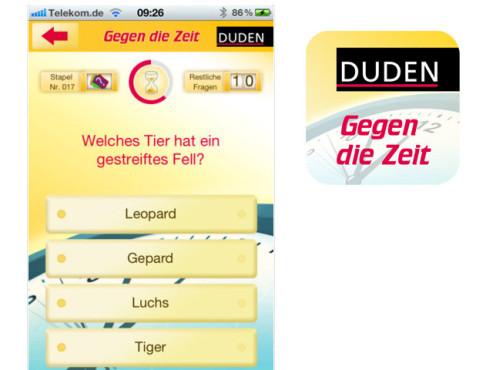 Gegen die Zeit – Duden Quiz ©it2media GmbH & Co. KG
