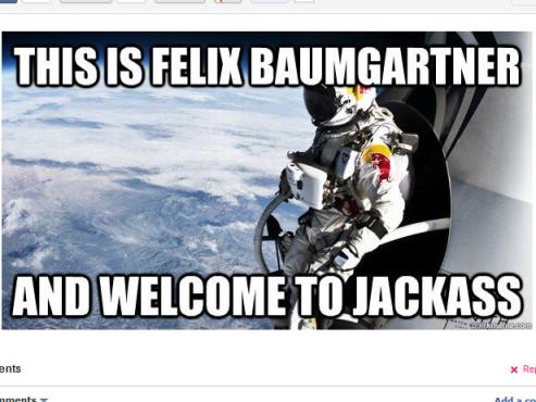Memes zu Red Bulls Stratos ©http://9gag.com/gag/5603038