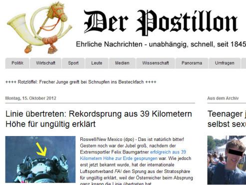 Red Bull Stratos Memes ©http://www.der-postillon.com