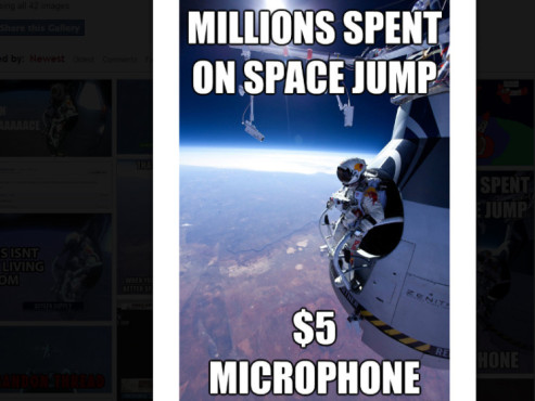 Red Bull Stratos Memes © http://knowyourmeme.com/memes/events/red-bull-stratos-felix-baumgartners-jump/photos