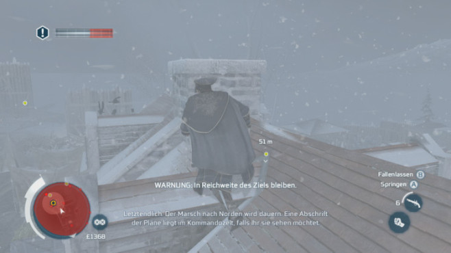 Actionspiel Assassin's Creed 3: Hausdach © Ubisoft