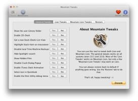 Screenshot 1 - Mountain Lion Tweaks (Mac)