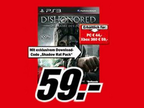 Dishonored – Die Maske des Zorns © Media Markt