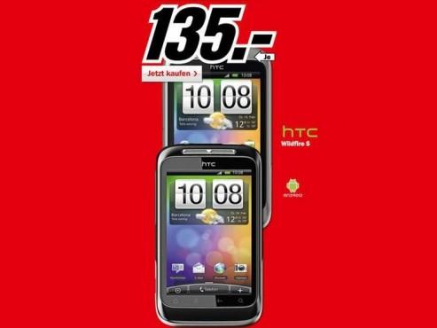 HTC Wildfire S ©Media Markt