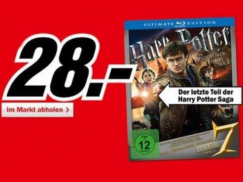 Harry Potter und die Heiligtümer des Todes Teil 2 (Ultimate Edition, Blu-ray) © Media Markt