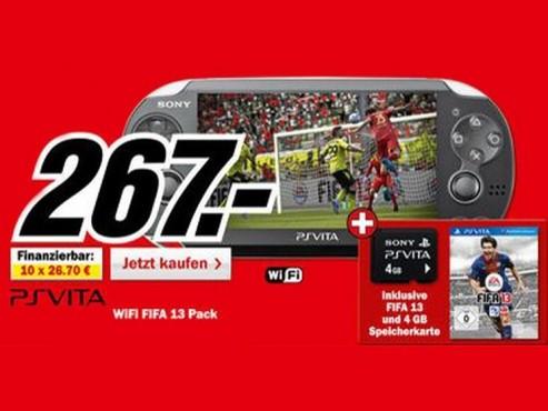 Sony PlayStation Vita WiFi mit Spiel und Speicherkarte ©Media Markt