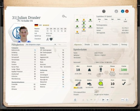 Simulation Fußball Manager 13: Draxler © Electronic Arts