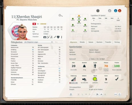 Simulation Fußball Manager 13: Xherdan © Electronic Arts