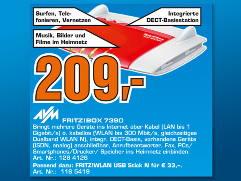 AVM Fritzbox 7390 © Saturn