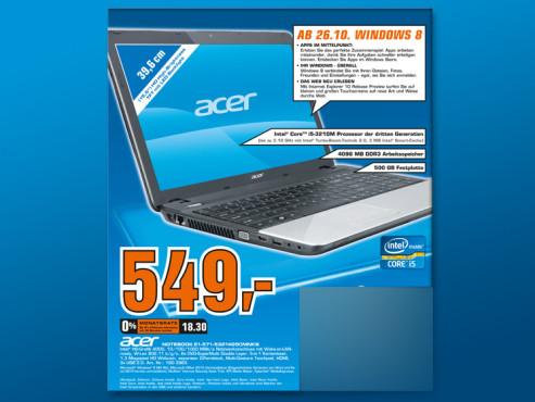 Acer E1-571-53214G50MNKS ©Saturn