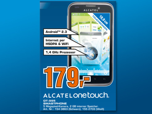 Alcatel One Touch 995 © Saturn
