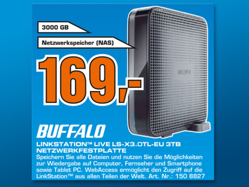 Buffalo Linkstation Live 3TB © Saturn