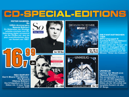 CD-Special-Editionen © Saturn