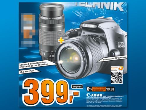 Canon Eos 1100D mit Doppelzoomkit ©Saturn