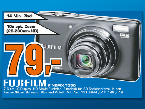 Fujifilm Finepix T350 © Saturn