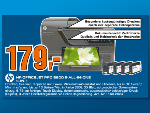 HP OfficeJet Pro 8600 E-All-In-One 4-in-1 © Saturn