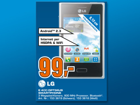 LG E400 Optimus L3 © Saturn