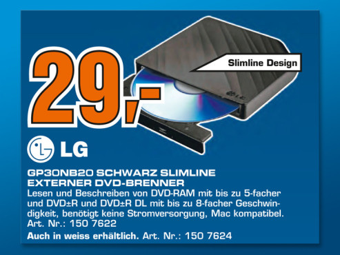 LG GP30NB20 Schwarz ©Saturn