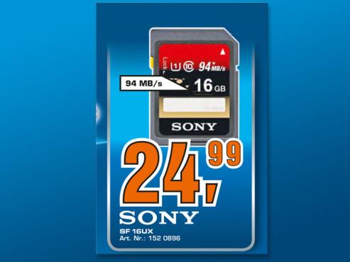 Sony SDXC 16GB Class 10 UHS-I Card ©Saturn