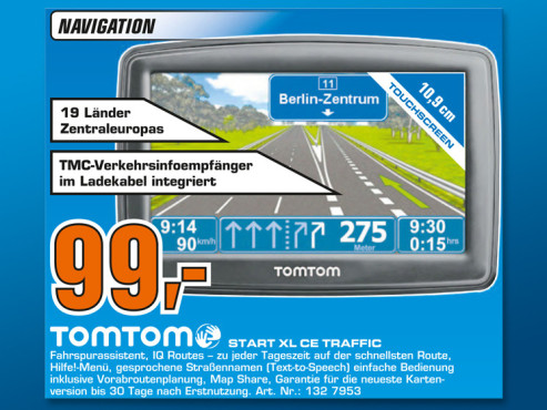 TomTom Start XL CE Traffic © Saturn