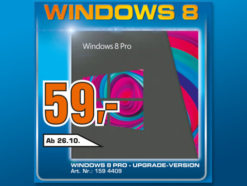 Windows 8 Pro Upgrade © Saturn