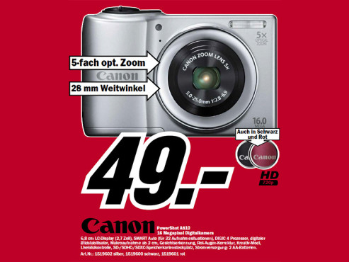 Canon PowerShot A810 © Media Markt