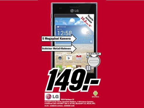 LG Optimus L5 ©Media Markt