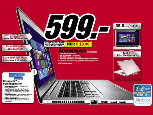Lenovo IdeaPad U310 ©Media Markt