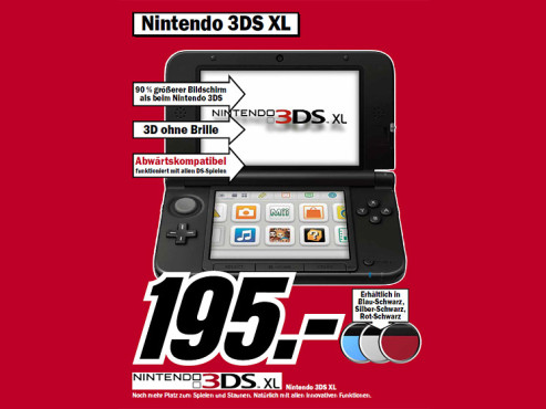 Nintendo 3DS XL © Media Markt