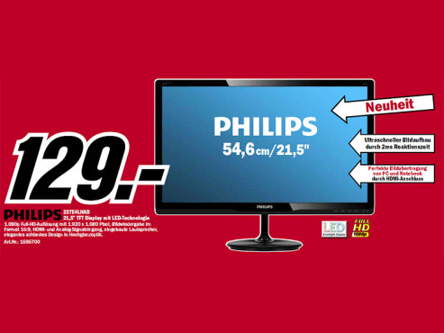 Philips 227E4LHAB/00 © Media Markt