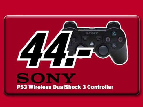 Sony DualShock 3 Controller Schwarz ©Media Markt