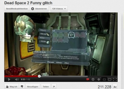 Bugs im Video: Dead Space 2 © Electronic Arts