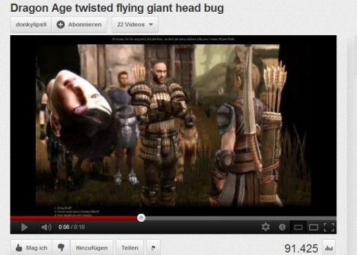 Bugs im Video: Dragon Age – Origins © Electronic Arts