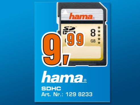 Hama SDHC Card 8 GB Class 10 ©Saturn