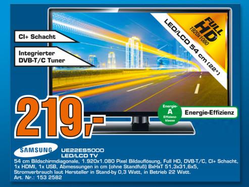Samsung UE22ES5000 ©Saturn