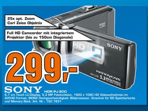 Sony HDR-PJ200E ©Saturn