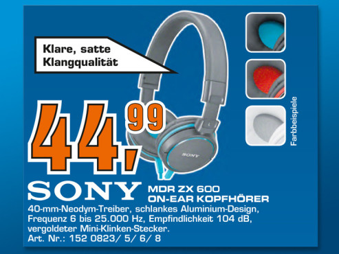 Sony MDR-ZX600 © Saturn