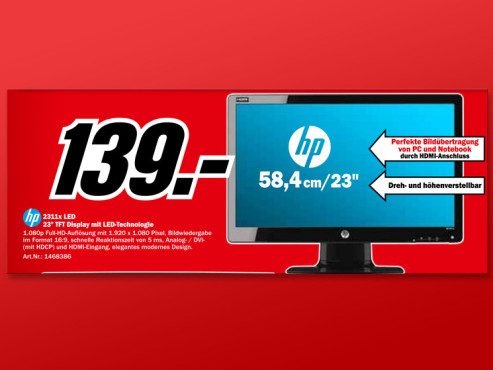 Hewlett-Packard HP 2311x © Media Markt