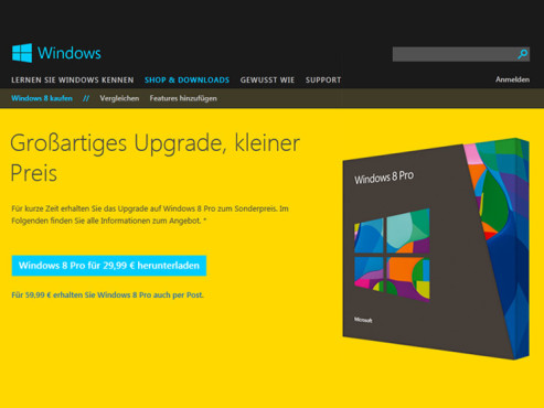 Windows 8 Installations-Stick/DVD © Microsoft