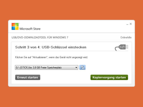 Windows 8 Installations-Stick/DVD © COMPUTER BILD