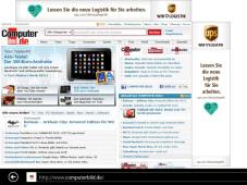Metro-App: Microsoft Internet Explorer 10 ©COMPUTER BILD