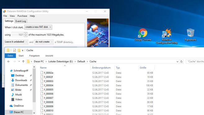Cache in RAM-Disk auslagern ©COMPUTER BILD