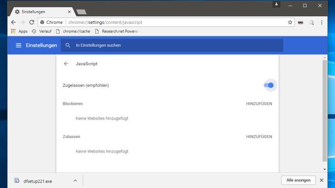 JavaScript aussperren ©COMPUTER BILD