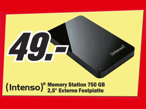 Intenso Memory Station 750GB © Media Markt
