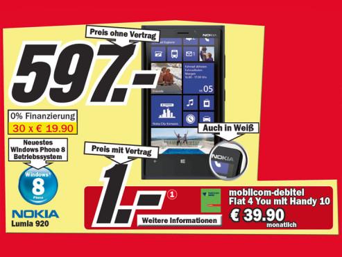 Nokia Lumia 920 Pureview ©Media Markt
