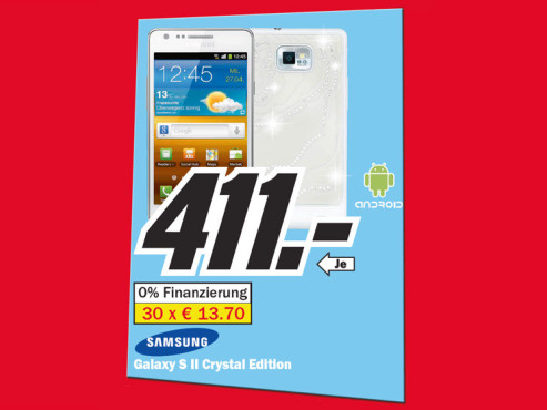 Samsung Galaxy S2 Crystal Edition © Media Markt